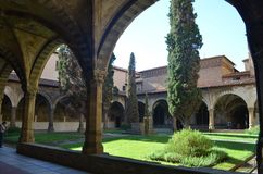 Santa Maria Novella. Picture of one of the cloisters of Santa Maria Novella Stock Photo