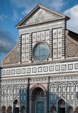 The Santa Maria Novella`s facade Stock Image