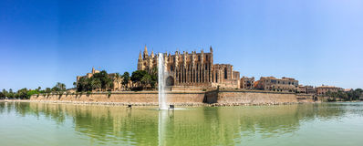 Santa Maria of Palma Cathedral in Mallorca, Spain Royalty Free Stock Image