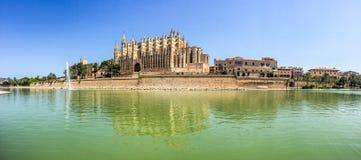 Santa Maria of Palma Cathedral in Mallorca, Spain Stock Image