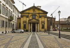 Santa Maria Podone-Kirche in Mailand, mit niemandem aroun Stockbilder