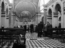 Santa Maria and San Satiro church in Milan in black and white Stock Photography
