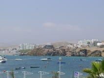 Santa Maria semesterort på 50 km på söderna av Lima Royaltyfri Foto