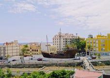Santa Maria Ship en Santa Cruz de La Palma Imágenes de archivo libres de regalías