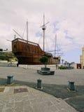 Santa Maria Ship en Santa Cruz de La Palma Fotos de archivo