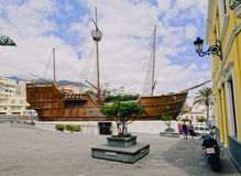 Santa Maria Ship in Santa Cruz de La Palma Royalty Free Stock Photography