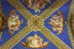 Santa Maria sopra Minerva cathedral ceiling Stock Photography
