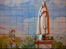 Santa Maria. Statue of Santa Maria in Scalea Royalty Free Stock Photography