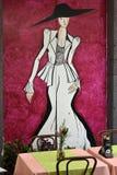 Santa Maria-Straße, gemalte Tür in der alten Stadt von Funchal, MA Stockfoto