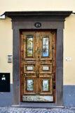 Santa Maria-Straße, gemalte Tür in der alten Stadt von Funchal, wütend Lizenzfreie Stockfotos
