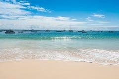Santa Maria strand i SalKap Verde - Cabo Verde arkivfoto