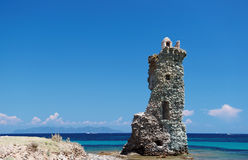 santa Maria  tower  in corsica Stock Photo