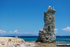 Santa Maria  tower  in corsica Stock Images