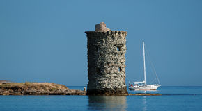 Santa Maria tower in  Corsican cape Stock Images