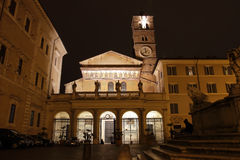 Santa Maria in Trastevere Royalty Free Stock Photo