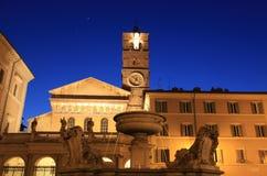 Santa Maria in Trastevere, Roma immagini stock