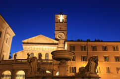 Santa Maria in Trastevere, Rome Stock Images