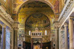 Santa Maria in Trastevere, Rome Royalty Free Stock Photography