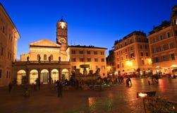 Santa Maria in Trastevere square royalty free stock photo