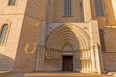 Santa- Mariakathedrale Gerona, Costa Brava, Katalonien, Spanien Stockfotos