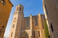 Santa- Mariakathedrale Gerona, Costa Brava, Katalonien, Spanien Lizenzfreie Stockfotos