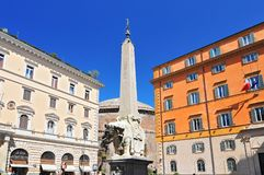Santa Marias obelisk, Rome, Italien fotografering för bildbyråer