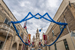 Santa Marija Assunta procession in Gudja, Malta. Royalty Free Stock Photography