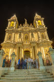 Santa Marija Assunta procession in Gudja, Malta. Royalty Free Stock Photos