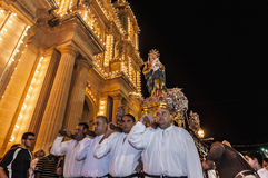 Santa Marija Assunta procession in Gudja, Malta. Stock Images