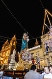 Santa Marija Assunta procession in Gudja, Malta. Royalty Free Stock Images