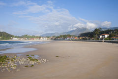 Santa Marina beach of Ribadesella Royalty Free Stock Image