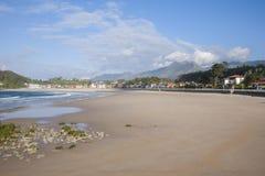 Santa Marina beach of Ribadesella Royalty Free Stock Image