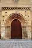 Santa Marina church door in Seville Spain Stock Image