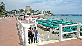 Santa marinella walk. Santa marinella rome italy, Santa Marinella is a really nice town, the pearl of the Tyrrhenian Sea, as they say in many, which boasts a stock photo