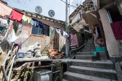 Santa Marta贫民窟 库存图片