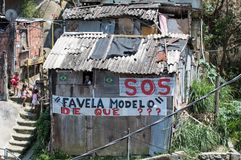 Santa Marta贫民窟 图库摄影