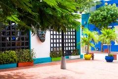 SANTA MARTA, КОЛУМБИЯ - OCOTBER 10, 2017: Красивый внешний взгляд здания в Santa Marta, Колумбии Стоковое Фото