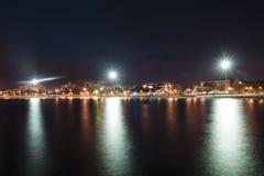 哥伦比亚- Santa Marta在晚上 图库摄影
