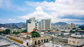 Santa Marta City Skyline Colombia South Amerika Stockbilder