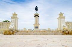 SANTA MARTA, COLOMBIA - OCTOBER 21, 2017: Statue of city founder Rodrigo de Bastidas in Santa Marta, popular caribbean. Destination in northern Colombia Royalty Free Stock Image