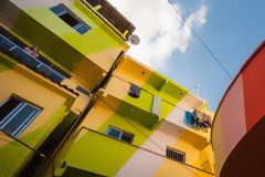 Santa Marta houses Royalty Free Stock Photo