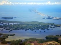 Santa Marta kust (Colombia) vanuit het DE lucht; Santa Marta-coa royalty-vrije stock foto's