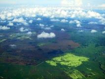 Santa Marta kust (Colombia) vanuit het de lucht; Santa Marta coa arkivbild