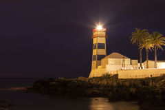 Santa Marta Lighthouse in Cascais Royalty Free Stock Photos