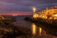 Santa Marta Lighthouse in Cascais Stock Photos