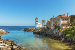 Santa Marta Lighthouse in Cascais. Portugal Stock Photo