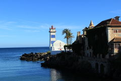 Santa Marta Lighthouse en Museum Royalty-vrije Stock Foto's