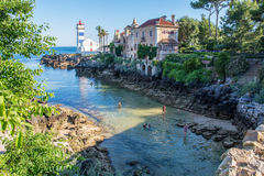 Santa Marta plaża w Cascais, Portugalia Zdjęcia Royalty Free