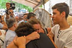 Santa Marta Procession - la Galizia fotografie stock