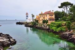 Santa Marta-vuurtoren Cascais Portugal stock fotografie